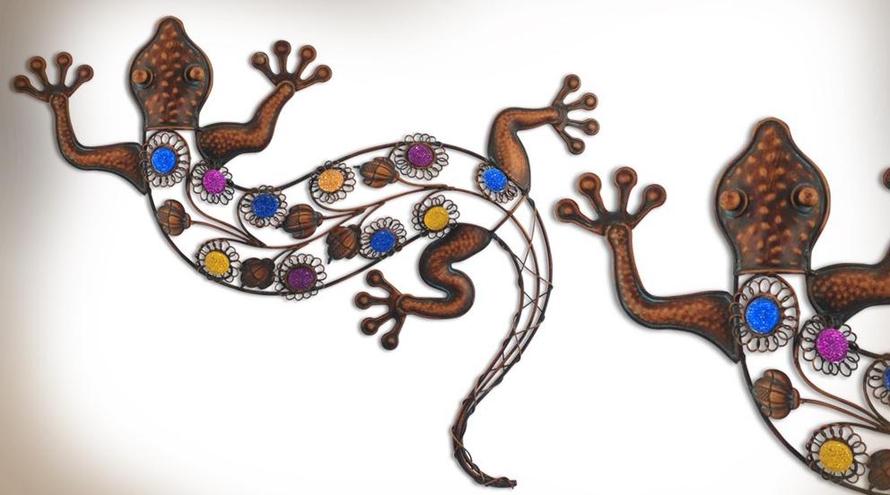 Dessin en couleurs imprimer animaux reptiles for Decoration murale fer forge