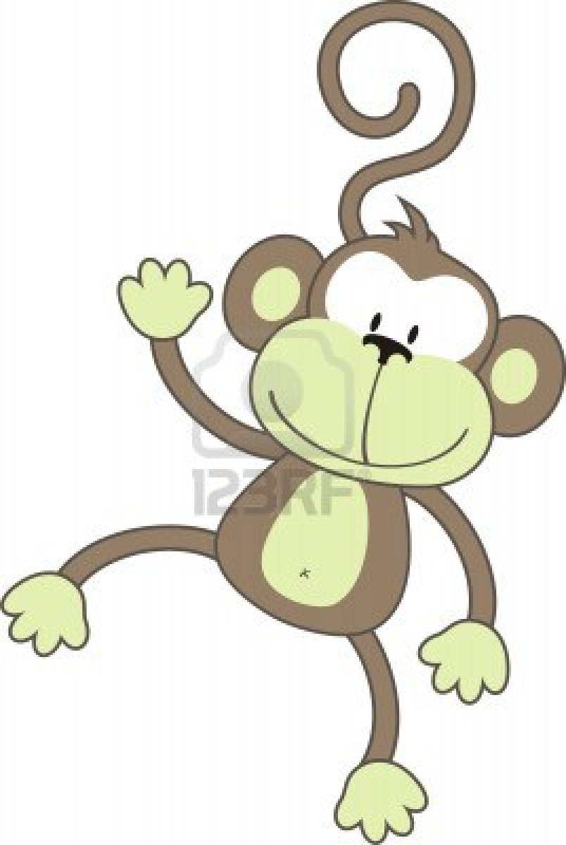 how to draw an animated monkey