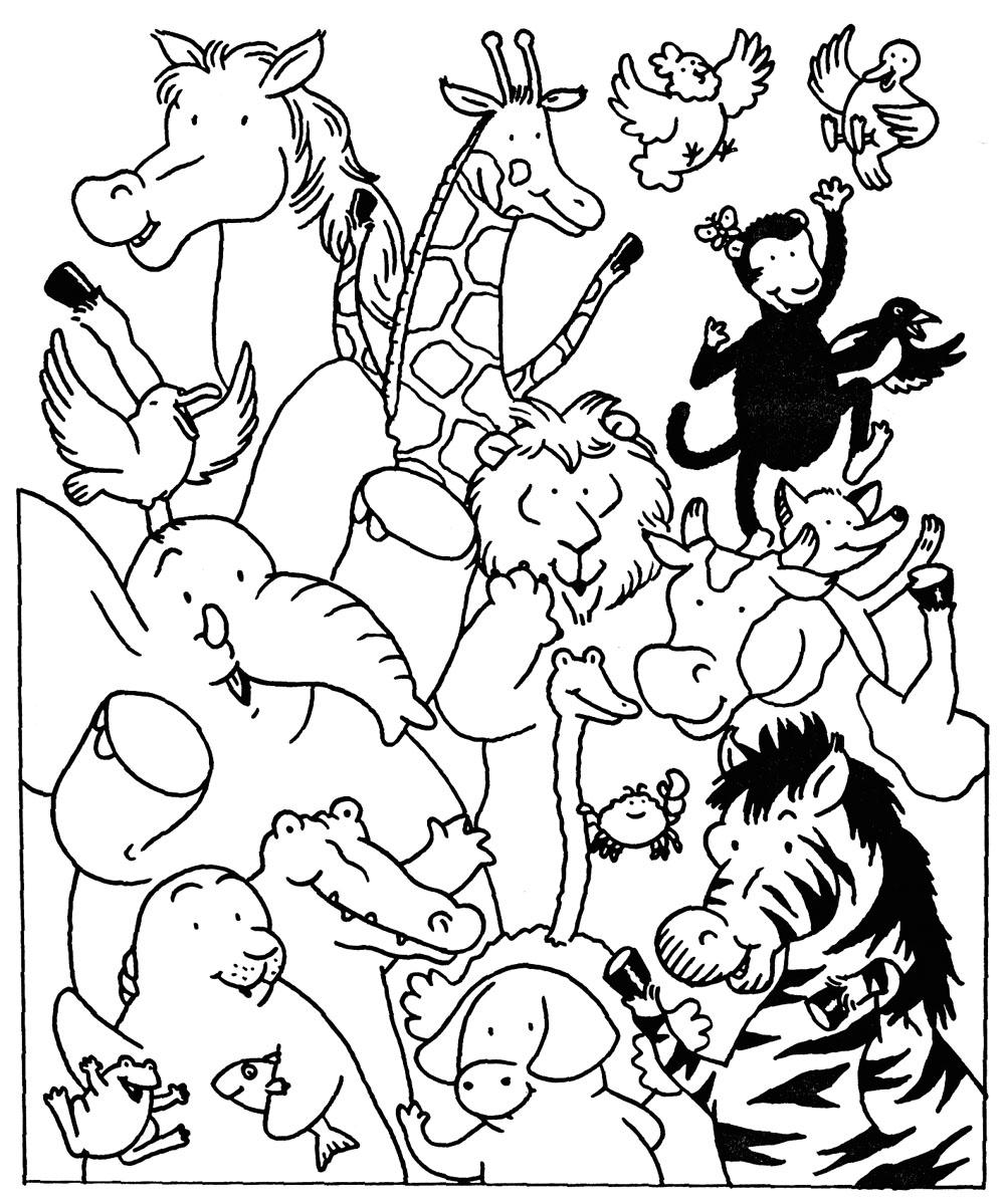 Coloriages à imprimer : Animaux, numéro : ed3d1d37