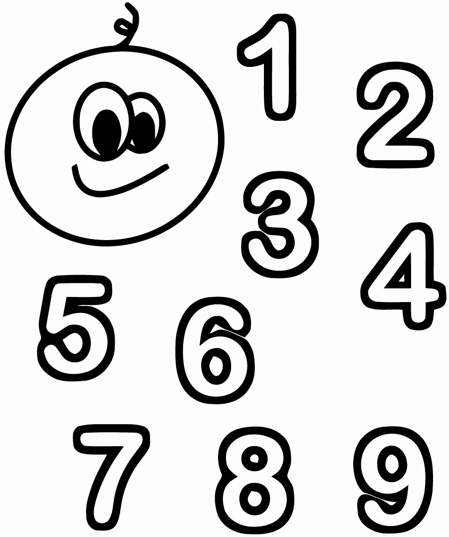 Coloriages à imprimer : Chiffres et formes, numéro : 1cc0ca3f