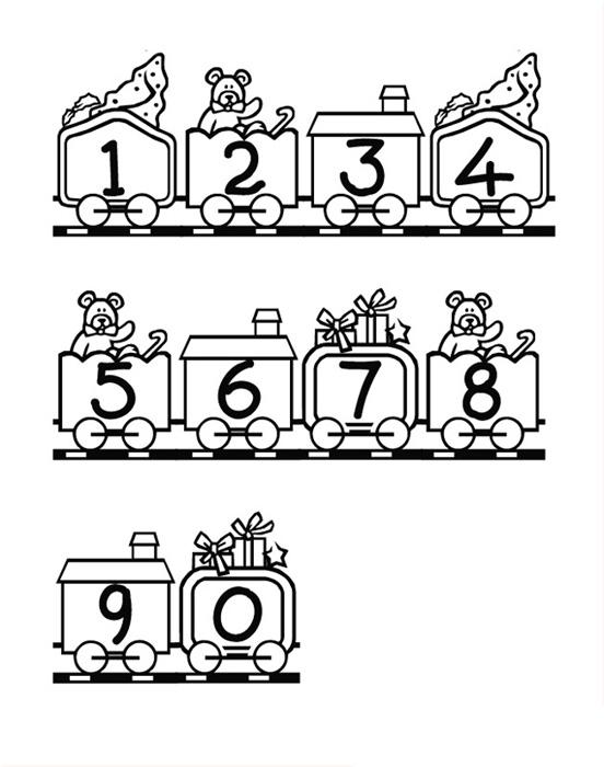 Coloriages à imprimer : Chiffres et formes, numéro : 27023