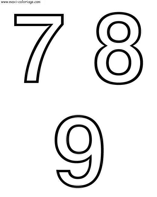 Coloriages à imprimer : Chiffres et formes, numéro : 5705