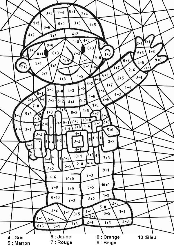 Coloriages à imprimer : Chiffres et formes, numéro : 95