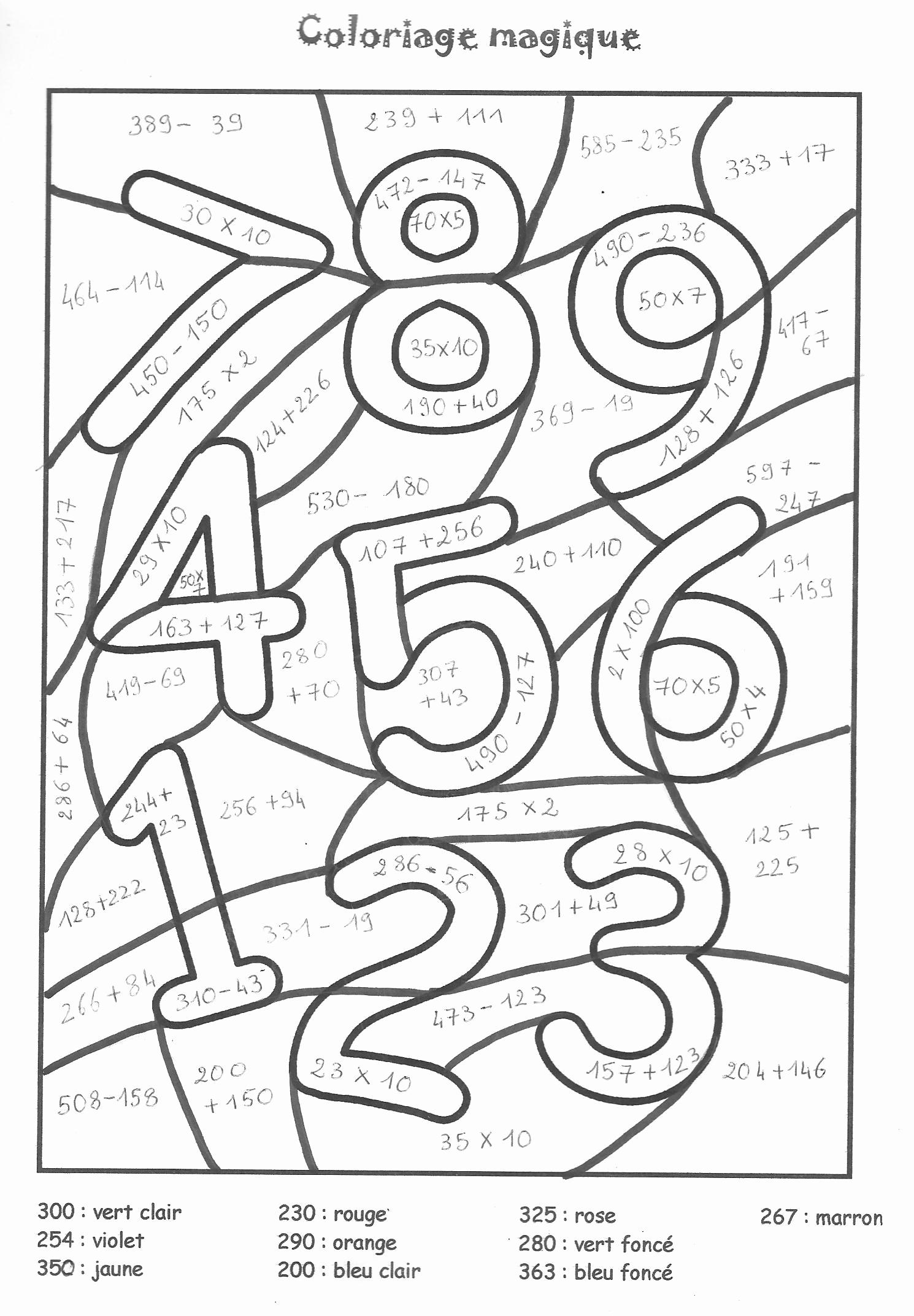Coloriages à imprimer : Chiffres et formes, numéro : 9c1bab4a