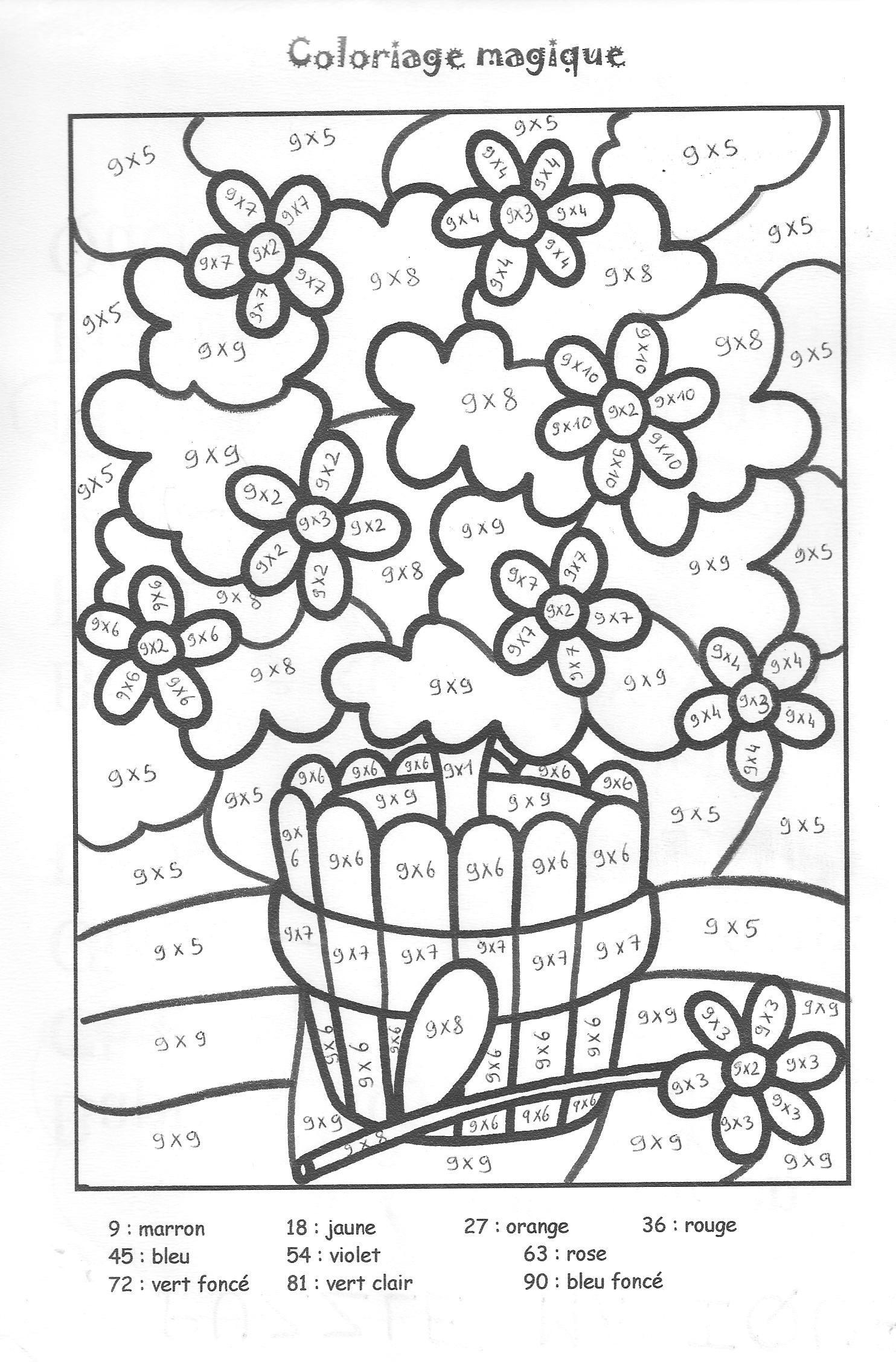 Coloriages à imprimer : Chiffres et formes, numéro : 9e83debe