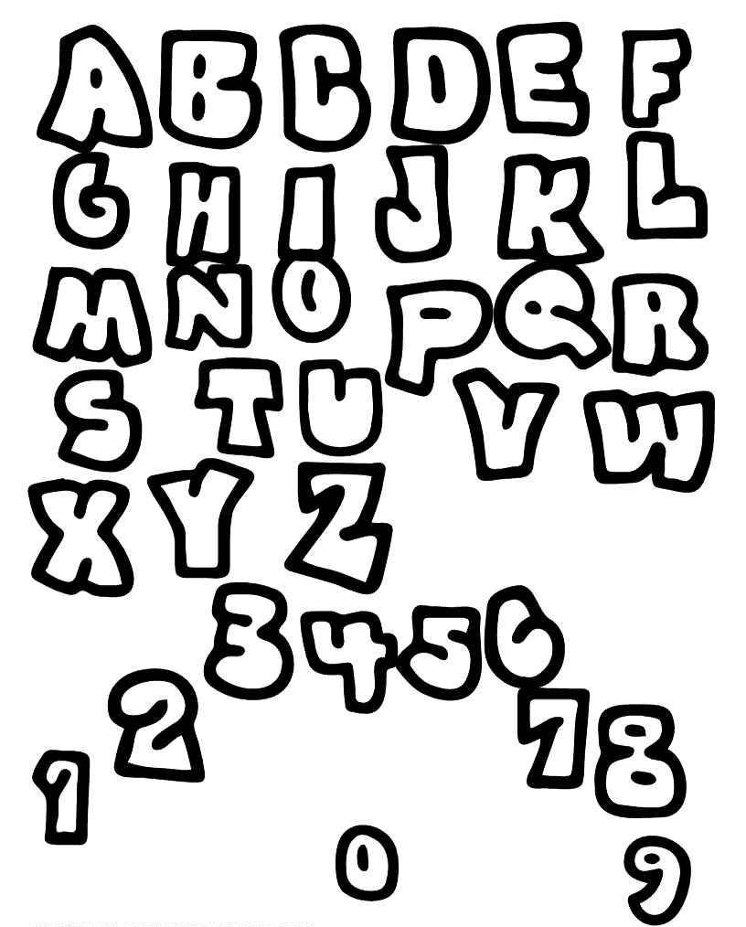 Coloriages à imprimer : Alphabet, numéro : 49483