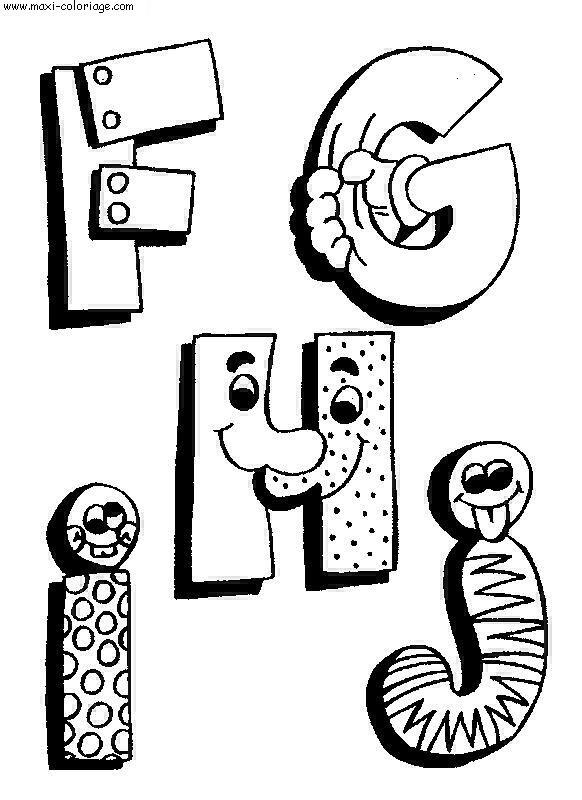 Coloriages à imprimer : Alphabet, numéro : 57289