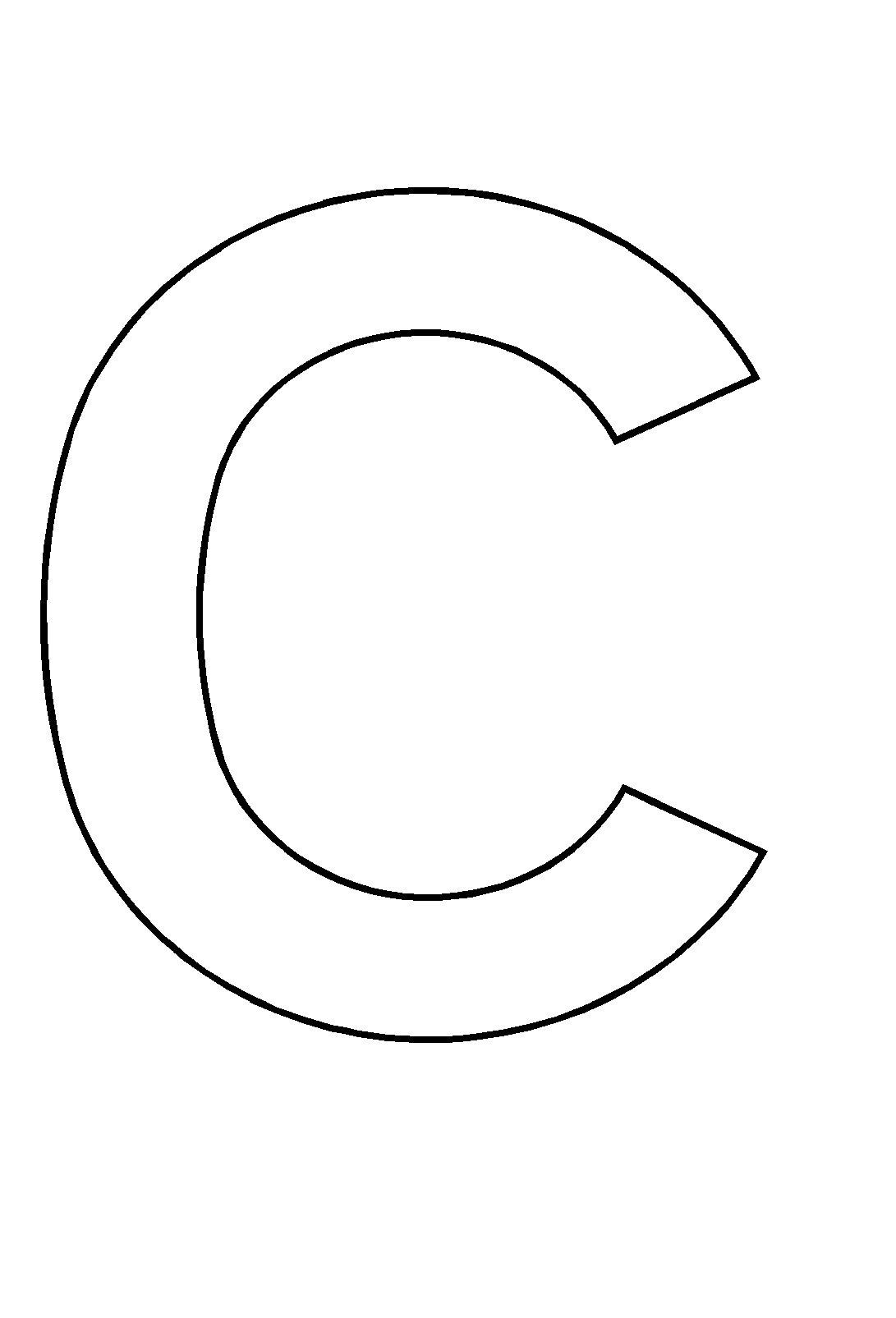 coloriage lettre c
