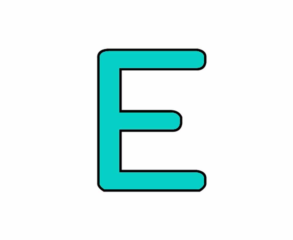 Dessins en couleurs à imprimer : Lettre e, numéro : 221059