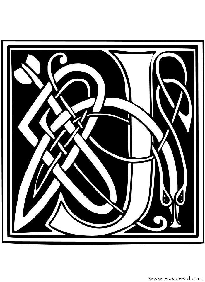 Alphabet Lettrines à Imprimer