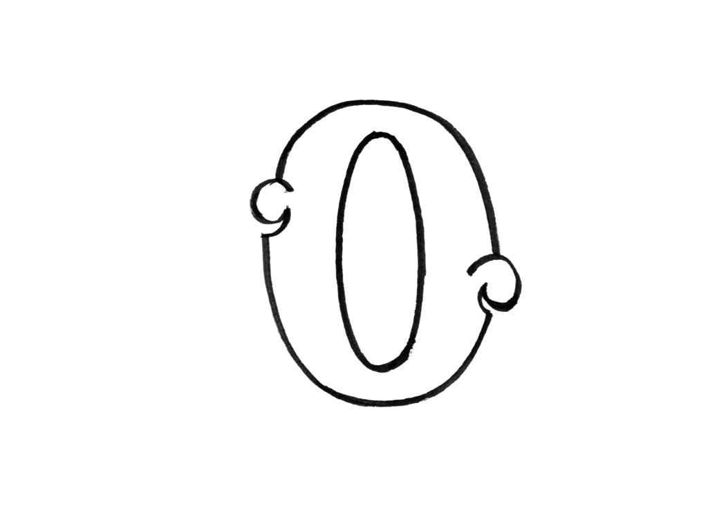 Coloriage à imprimer : Chiffres et formes - Alphabet - Lettre o numéro 395449