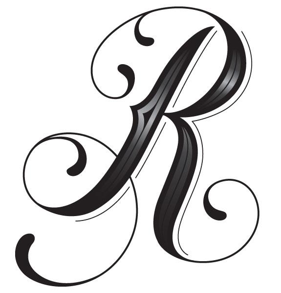 Dessins En Couleurs à Imprimer : Lettre R, Numéro : 77180