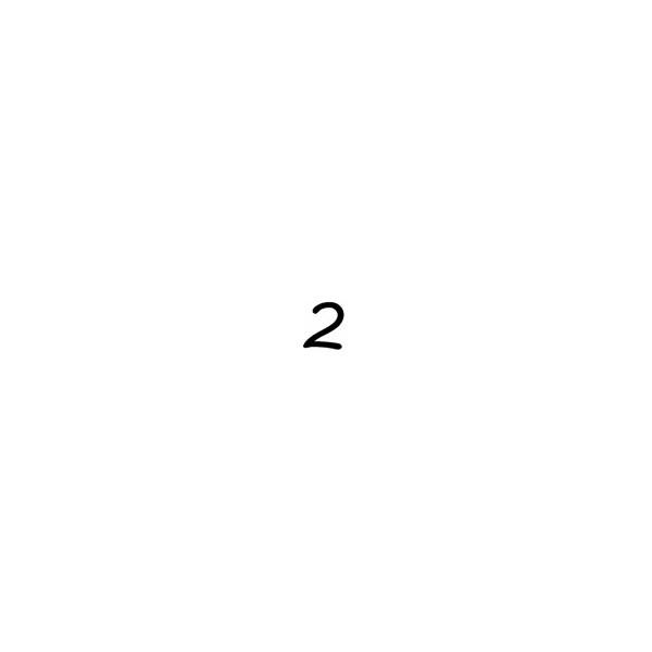 Coloriages à imprimer : Chiffre deux, numéro : 2847