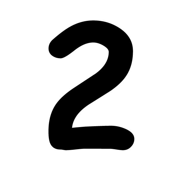 Coloriages à imprimer : Chiffre deux, numéro : 2857