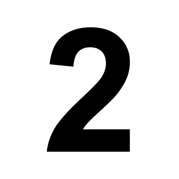Coloriages à imprimer : Chiffre deux, numéro : 2858