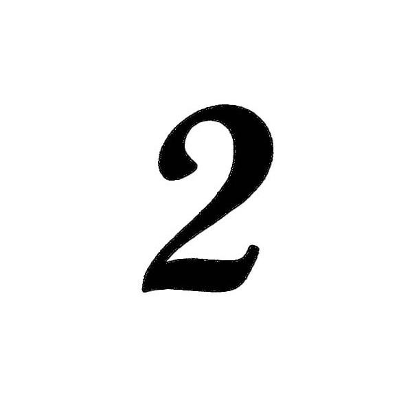 Coloriages à imprimer : Chiffre deux, numéro : 62586