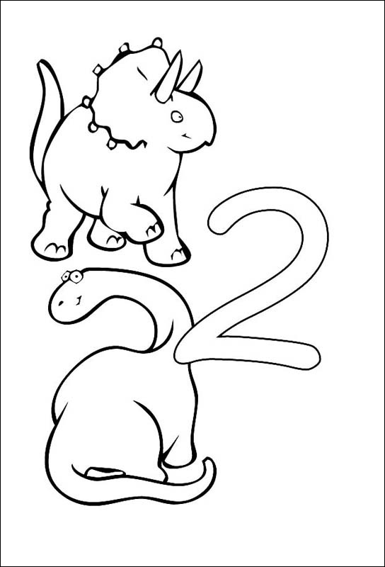Coloriages à imprimer : Chiffre deux, numéro : 8424
