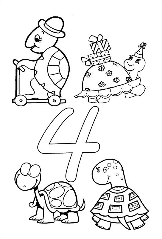 Coloriages à imprimer : Chiffre quatre, numéro : 23602