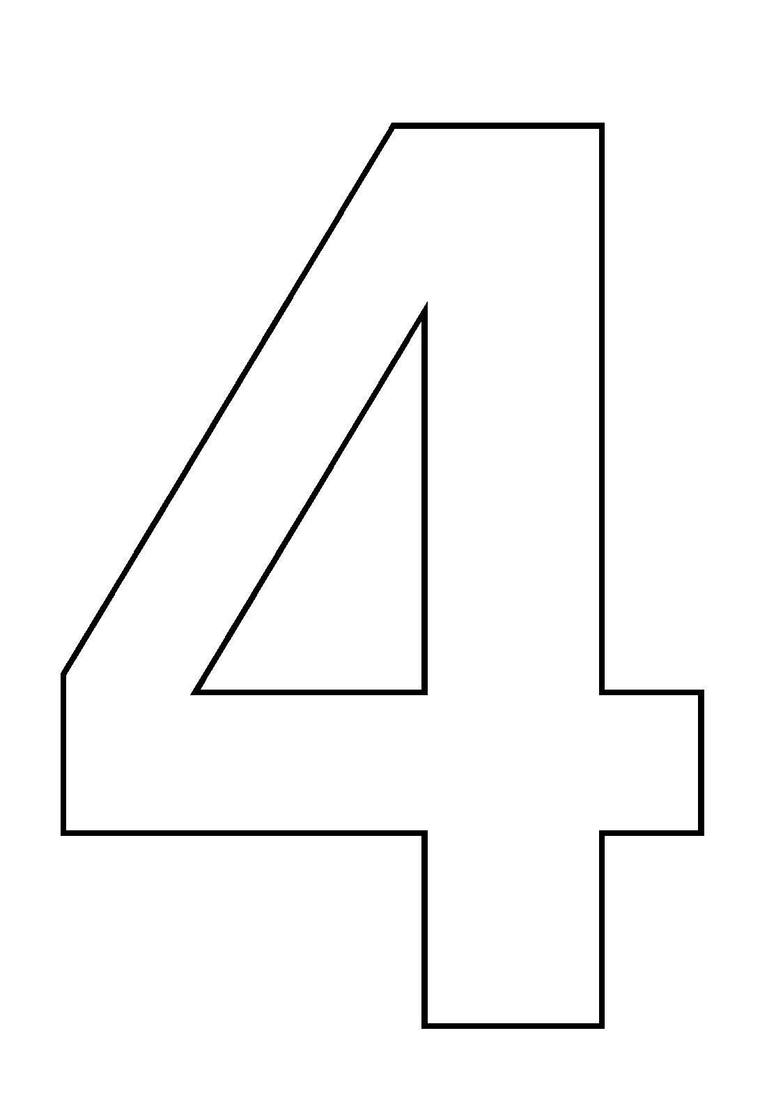 Coloriages à imprimer : Chiffre quatre, numéro : 544494