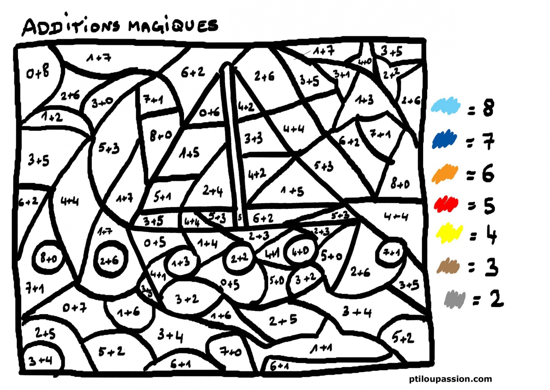 Dessins en couleurs imprimer coloriages magiques - Coloriage avec des chiffres ...