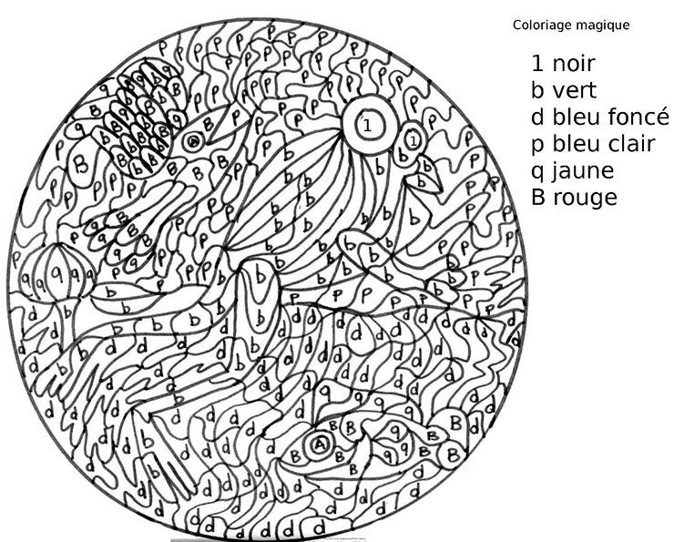 Coloriages à imprimer : Coloriages magiques, numéro : 592765
