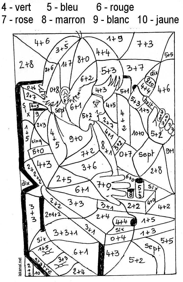 à imprimer chiffres et formes coloriages magiques numéro 754159