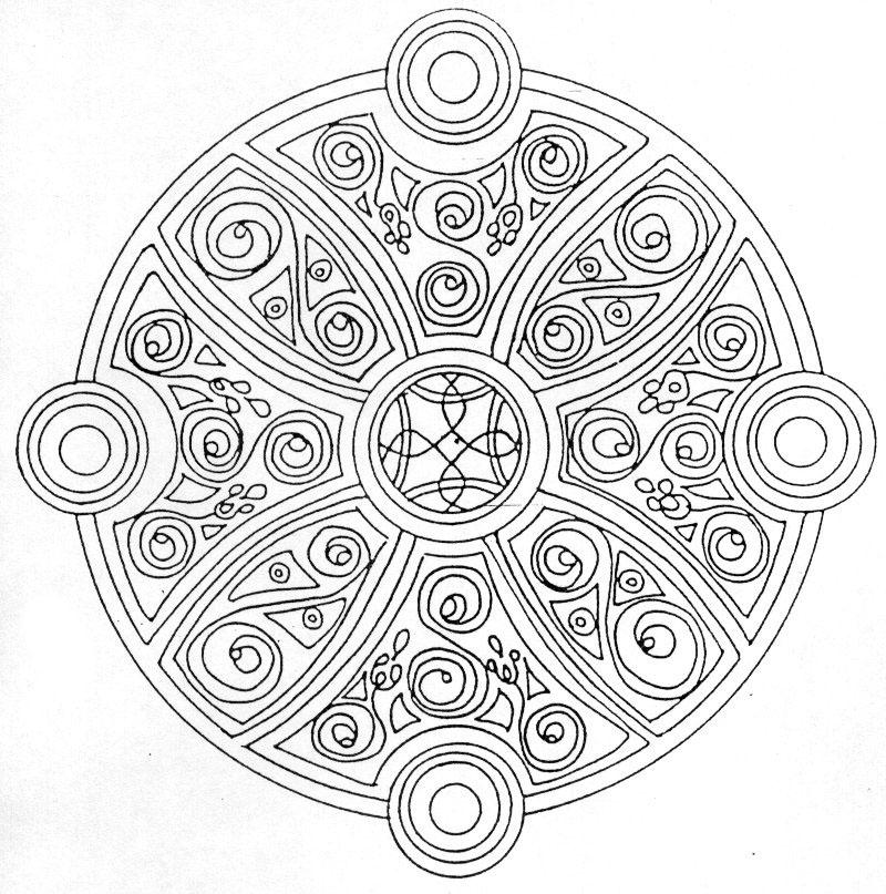 Coloriages imprimer rond num ro 17293 - Coloriage mandala printemps ...