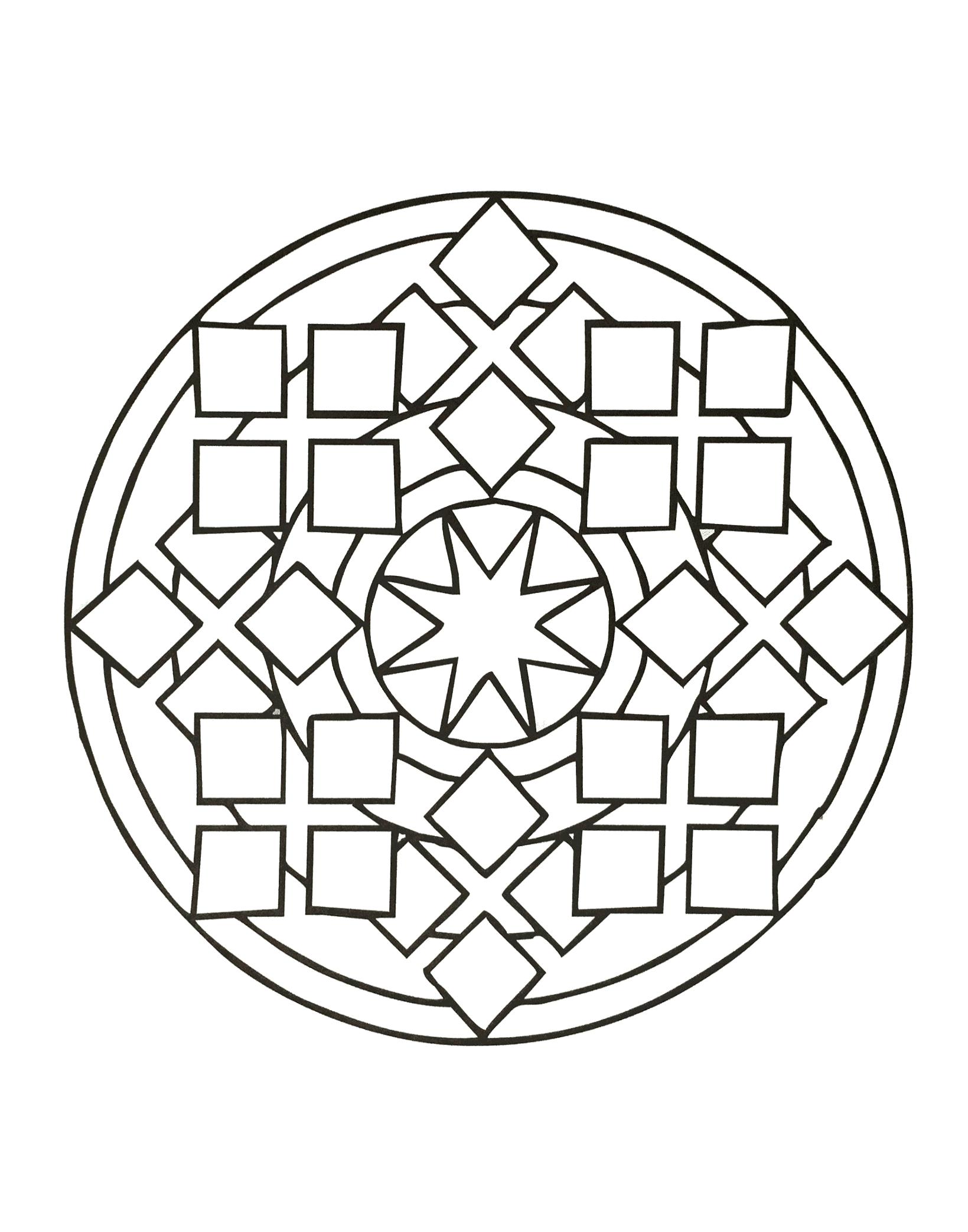 Coloriages à imprimer : Rond, numéro : 2bd20c4b