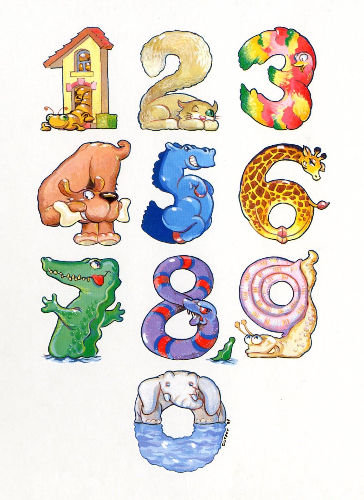 Dessins en couleurs à imprimer : Tous les chiffres, numéro : 402889
