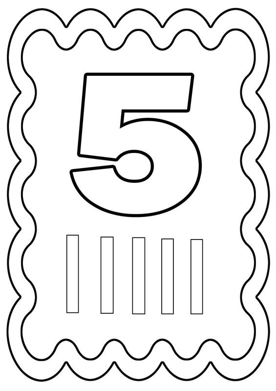 Coloriages à Imprimer Chiffre 5 Numéro 514224