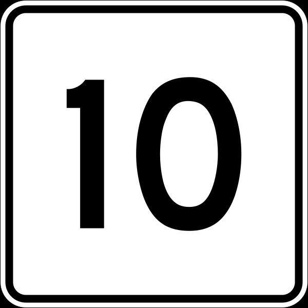 10: Coloriages à Imprimer : Nombre 10, Numéro : 496418