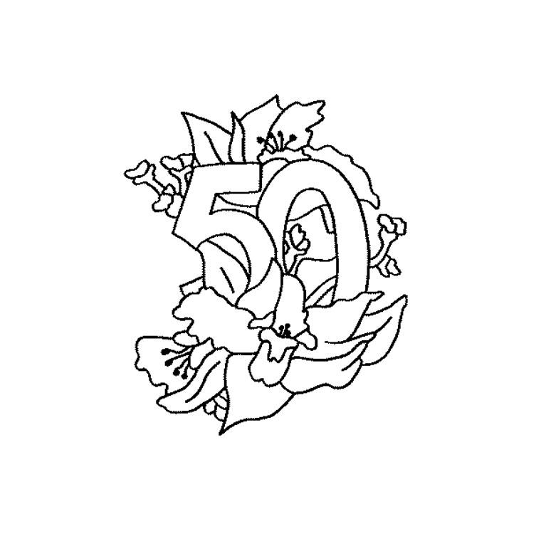 Coloriages imprimer anniversaire num ro 29334 - Dessin gateau anniversaire 50 ans ...