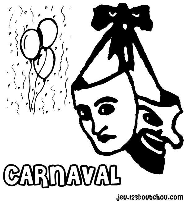 Coloriages à imprimer : Carnaval, numéro : 3765
