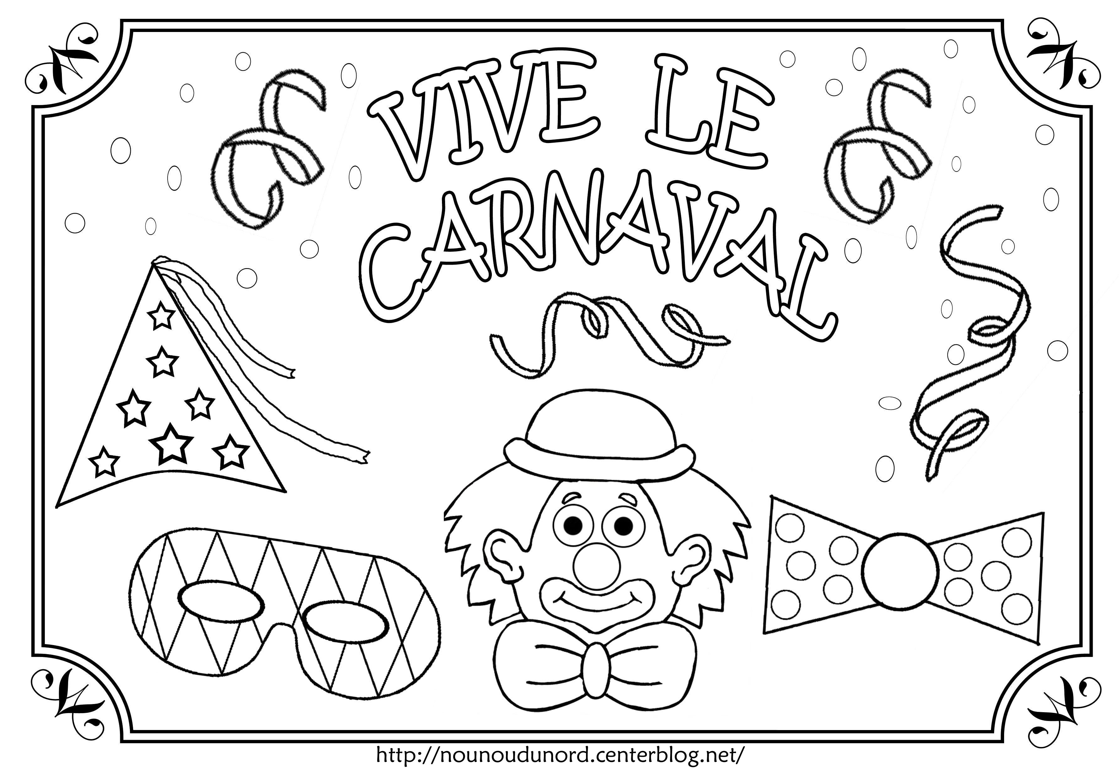 Coloriages à imprimer : Carnaval, numéro : b190e4e