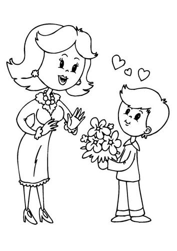 Coloriages à imprimer : Fête des mères, numéro : 293258