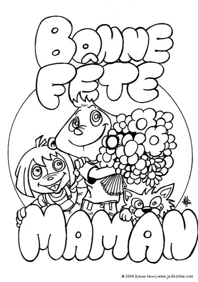 Coloriages à imprimer : Fête des mères, numéro : 4784