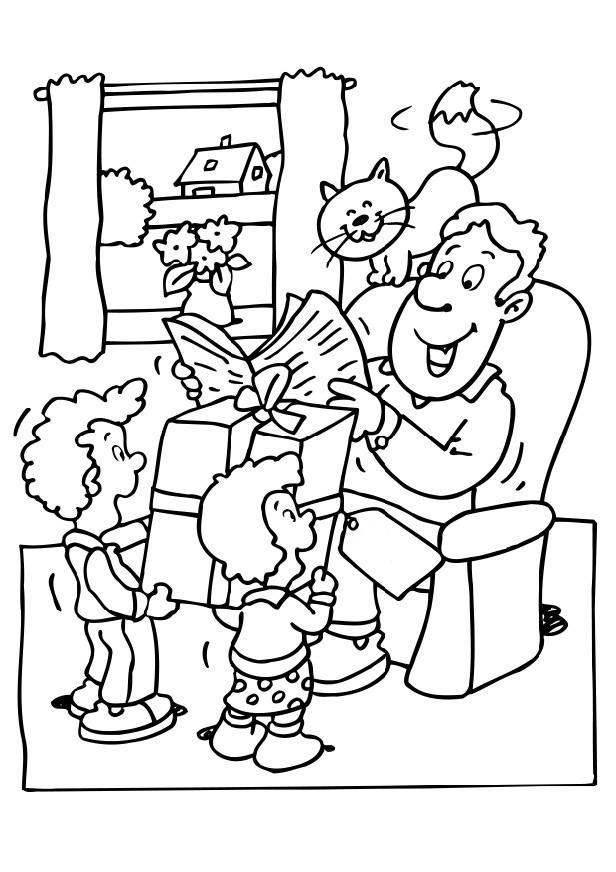 Coloriages à imprimer : Fête des pères, numéro : 44716