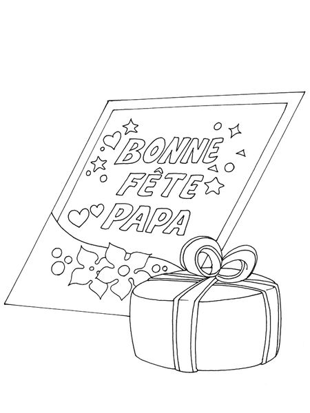 Coloriages à imprimer : Fête des pères, numéro : 600573