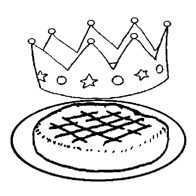 Coloriages à imprimer : Galette des Rois, numéro : 5497