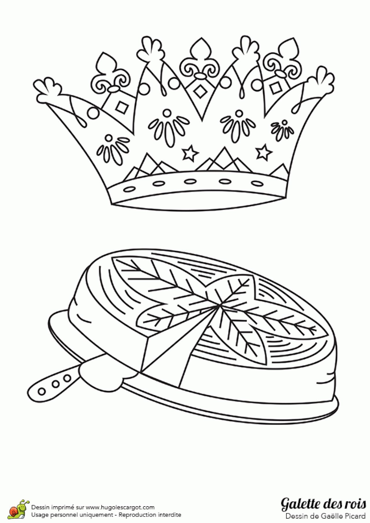 Coloriages à imprimer : Galette des Rois, numéro : e43e66fe