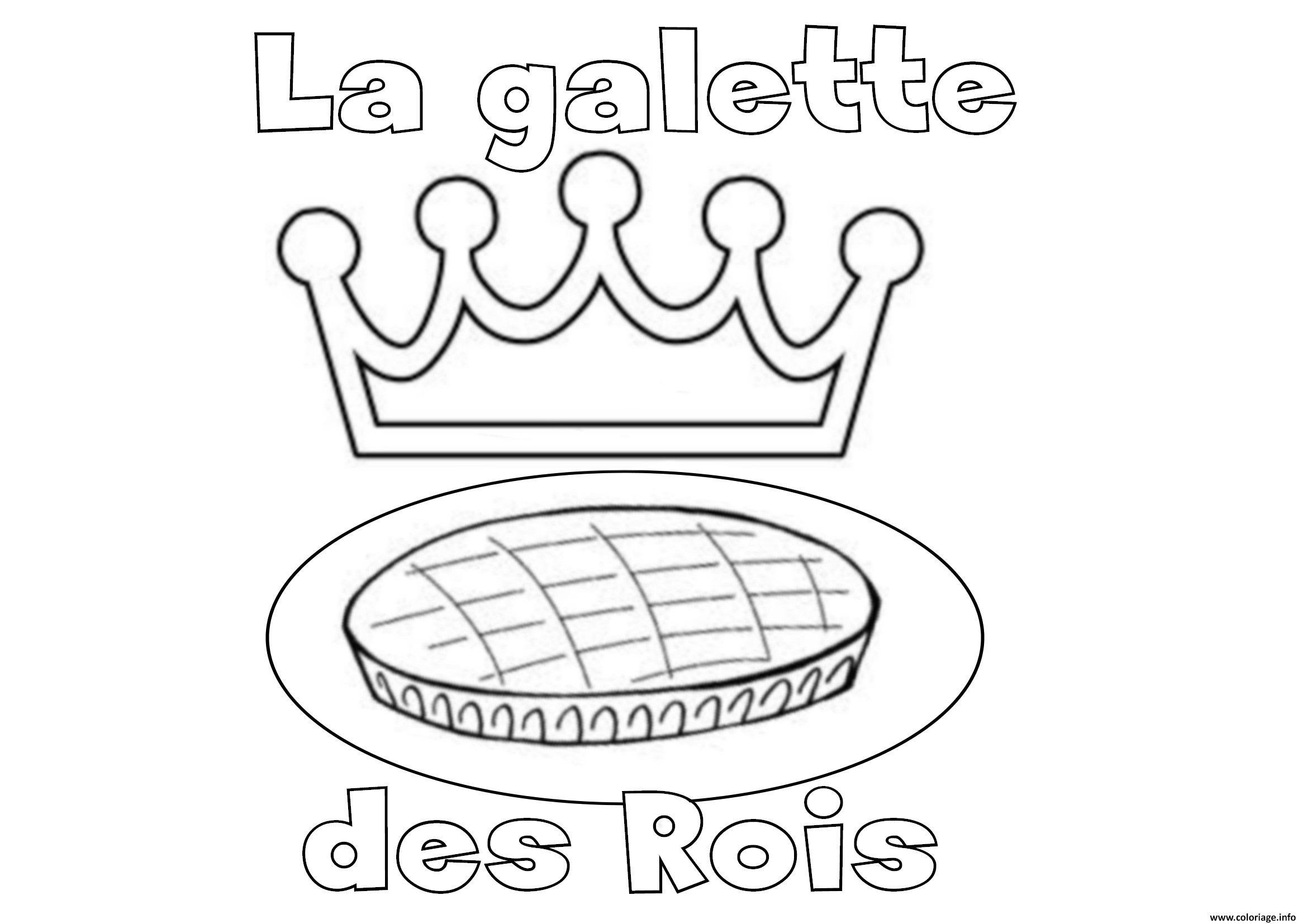 Coloriages à imprimer : Galette des Rois, numéro : f9135d1