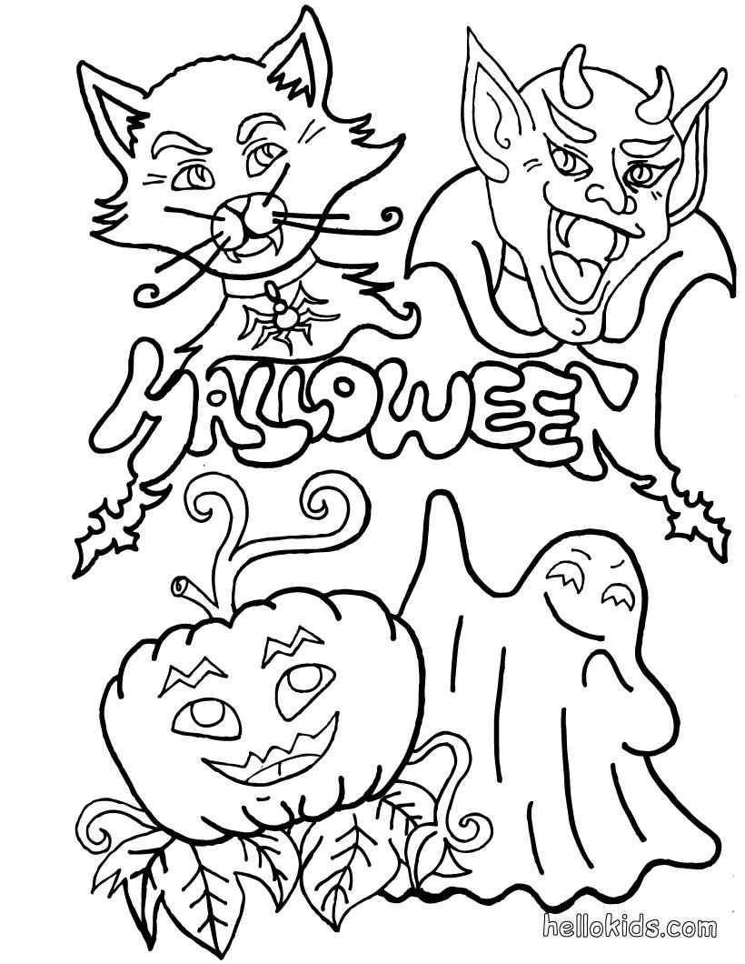 Coloriages à imprimer : Halloween, numéro : 29301