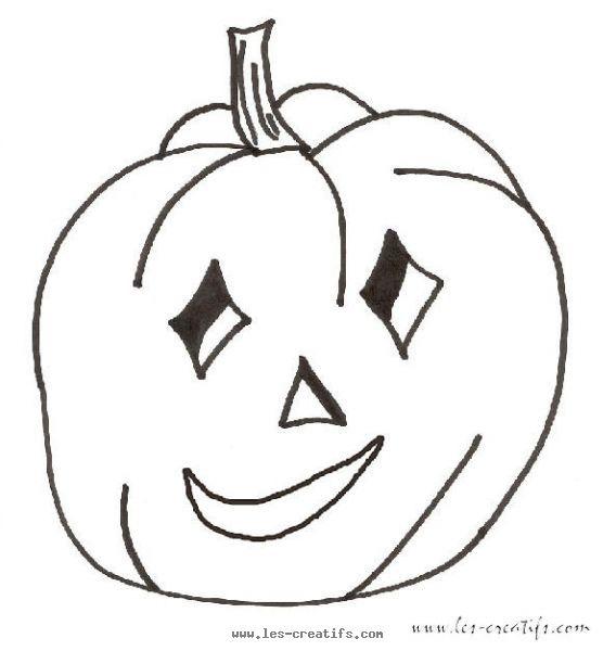 Dessin en couleurs imprimer ev nements halloween citrouille num ro 50266 - Citrouille halloween dessin couleur ...