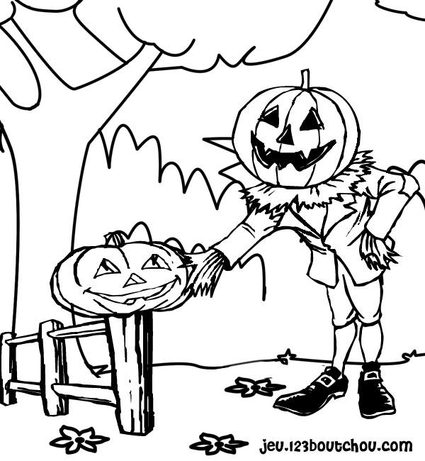 Coloriage imprimer ev nements halloween citrouille num ro 517339 - Dessin de citrouille halloween ...