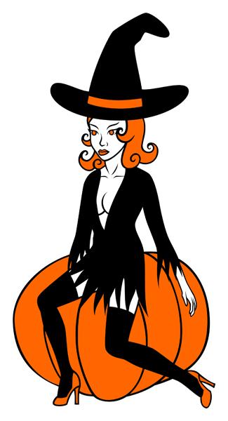 Dessin citrouille couleur - Dessin sorciere halloween ...