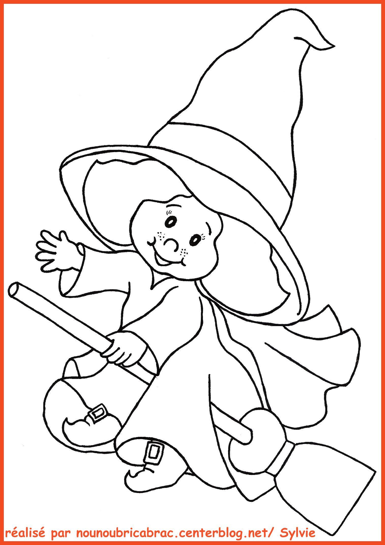 Dessin en couleurs imprimer ev nements halloween - Faire une sorciere pour halloween ...