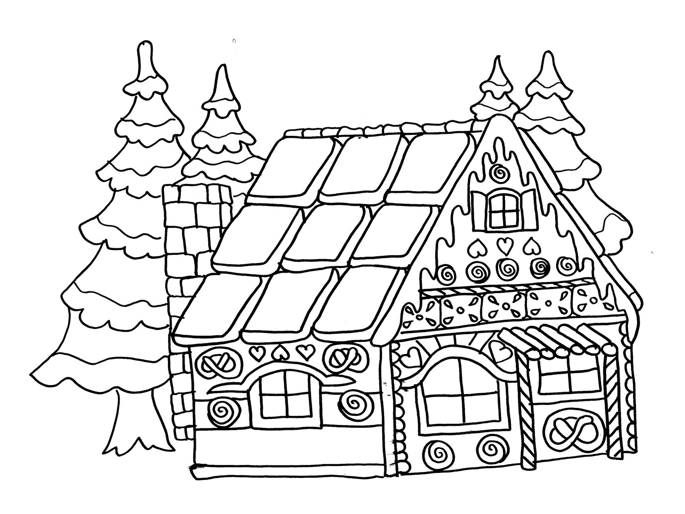 Coloriages imprimer no l num ro 16228 - Coloriage village de noel ...