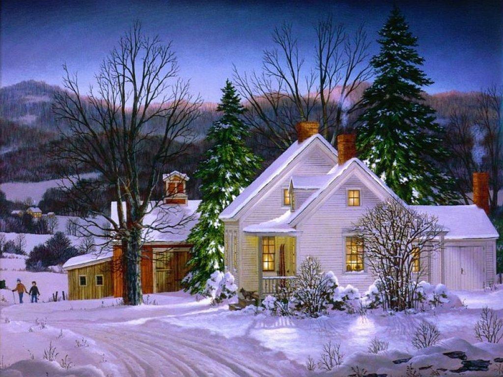 Paysage De Noel A Imprimer.Dessins En Couleurs à Imprimer Noël Numéro 692175