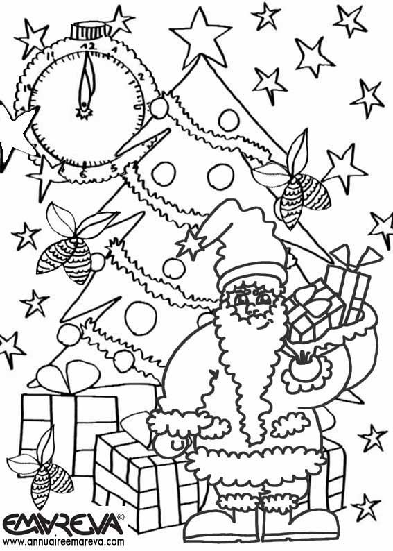 Dessin en couleurs à imprimer : Evènements - Noël - Cadeau de Noël