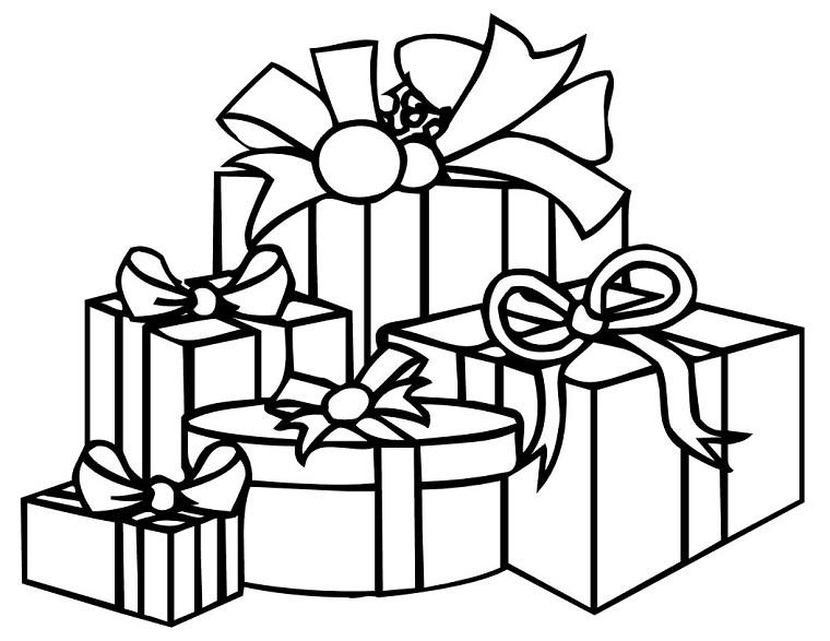 Coloriages à imprimer : Cadeau de Noël, numéro : 614823